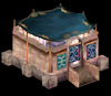 Istaria MMO - Clothworking Shop a buildable plot structure that is persistant in the game world